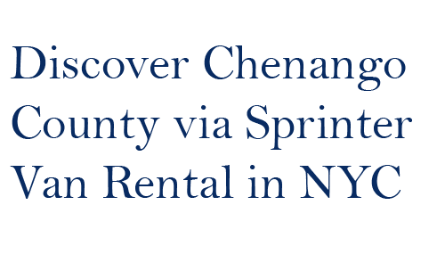 Sprinter Van Rental in NYC