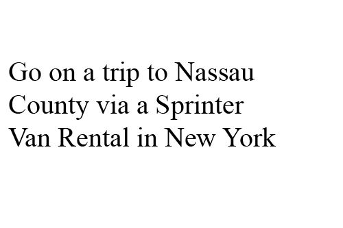 Sprinter Van Limo in New York